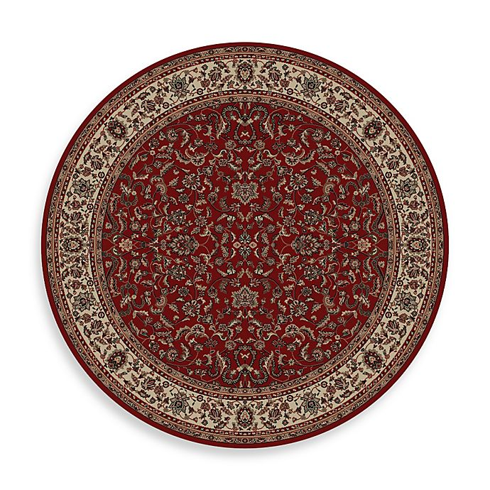 Alternate image 1 for Concord Global Trading Kashan 7'10 Round Area Rug in Red