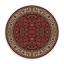 Concord Global Trading Kashan 5'3 Round Area Rug in Red