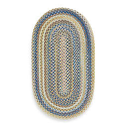 Capel Kill Devil Hill 5-Foot x 8-Foot Oval Indoor Braided Rug - Light Blue