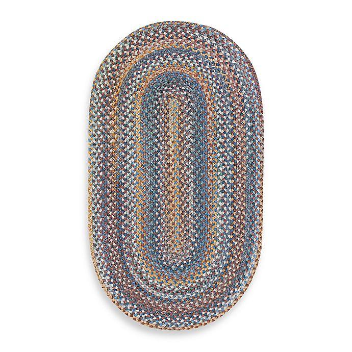 Alternate image 1 for Capel Kill Devil Hill Oval Indoor Braided Rug - Medium Blue