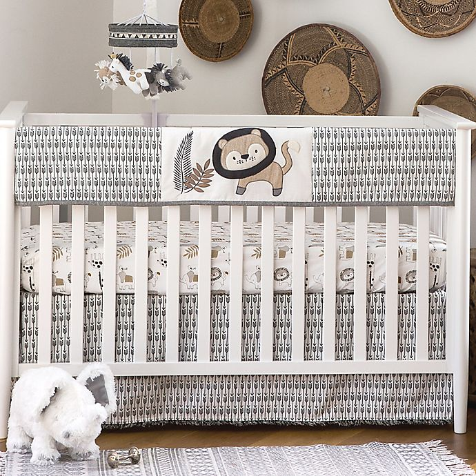 Alternate image 1 for Levtex Baby® Tanzania Crib Rail Guard in Grey/Taupe