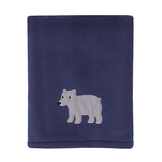 Alternate image 1 for carters® Explore Baby Bear Stroller Blanket in Navy