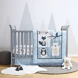 Belle Nordic Wonder Reversible 4-Piece Crib Bedding Set