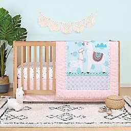 Belle Llama Love Reversible 4-Piece Crib Bedding Set