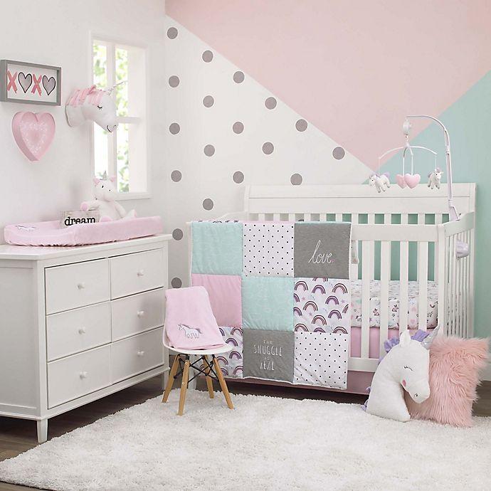 Alternate image 1 for carter's® Unicorn Snuggles Crib Bedding Set in Pink