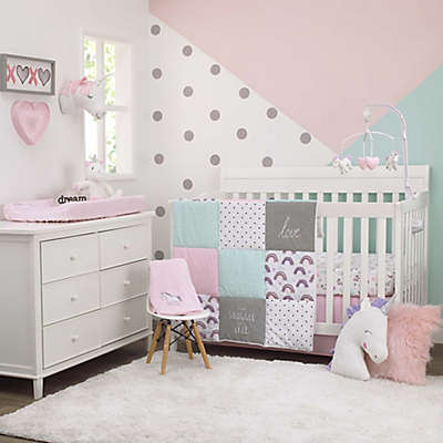 carter's® Unicorn Snuggles Crib Bedding Set in Pink