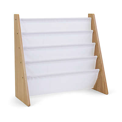 Mumble Crew 4-Pocket Book Rack in Natural/White