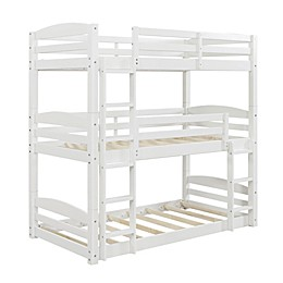Dorel Living® Maverick Twin Over Twin Bunk Bed in White