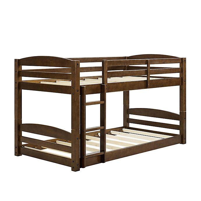 Alternate image 1 for Dorel Living® Maverick Twin Over Twin Bunk Bed in Mocha
