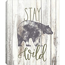Linden Ave Stay Wild 10-Inch x 8-Inch Canvas Wall Art