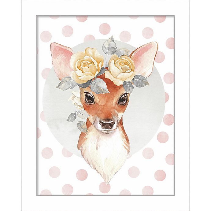 Alternate image 1 for Linden Ave Deer with Flowers 10-Inch x 8-Inch Wood Wall Art