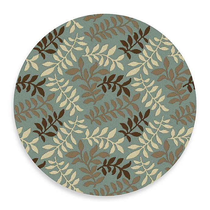 Alternate image 1 for Leafs 7-Foot 10-Inch Round Rug in Blue