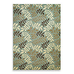 Concord Global Leafs Rug in Blue