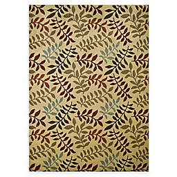 Leafs 7-Foot 10-Inch x 10-Foot 6-Inch Rug in Ivory