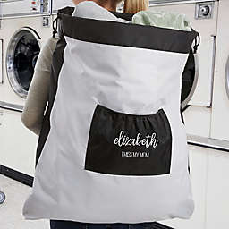 Scripty Style Personalized Laundry Bag