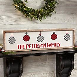 Farmhouse Christmas Personalized 30-Inch x 8-Inch Barnwood Frame Wall Art