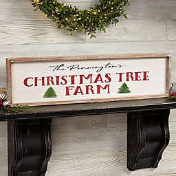 Christmas Tree Farm Personalized 30-Inch x 8-Inch Barnwood Frame Wall Art