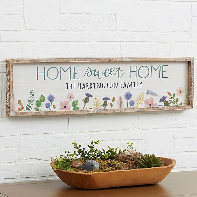 Home Sweet Home Personalized 30 Inch X 8 Inch Barnwood Frame Wall Art Bed Bath And Beyond Canada