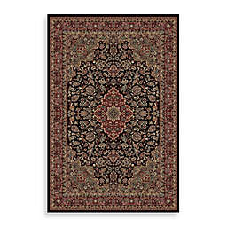Concord Global Medallion Kashan Black Rug