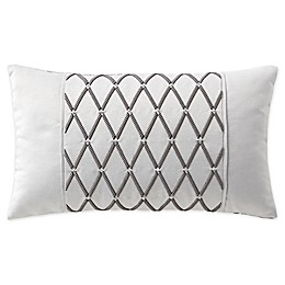 Waterford® Aidan Embroidered Oblong Throw Pillow in Gunmetal