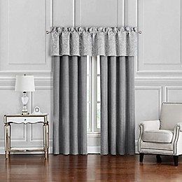 Waterford® Aidan 2-Pack 84-Inch Window Curtain in Gunmetal