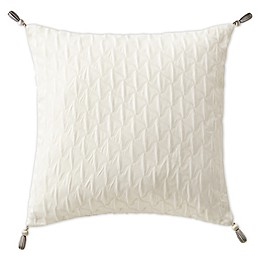 Waterford® Aidan Tasseled Square Throw Pillow in Gunmetal