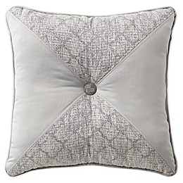 Waterford® Aidan Tufted Square Throw Pillow in Gunmetal