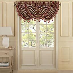 J. Queen New York™ Maribella Waterfall Window Valance in Crimson