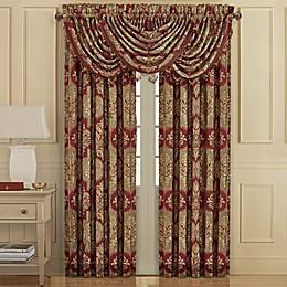 J. Queen New York™ Maribella 84-Inch Rod Pocket Window Curtain Panel Pair in Crimson