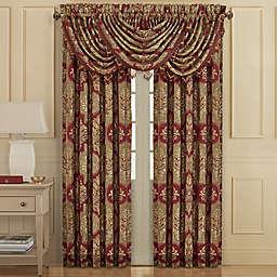 J. Queen New York™ Maribella 2-Pack 84-Inch Rod Pocket Window Curtain in Crimson
