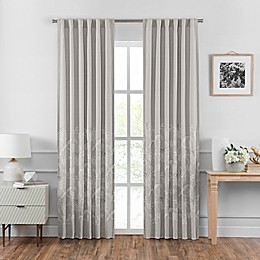 Croscill Penelope Back Tab Window Curtain Panel Pair in Neutral