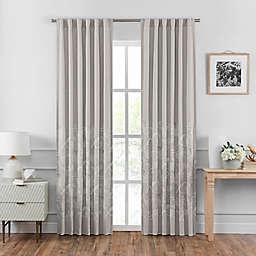 Croscill Penelope Back Tab Window Curtain Panel Pair in Neutral