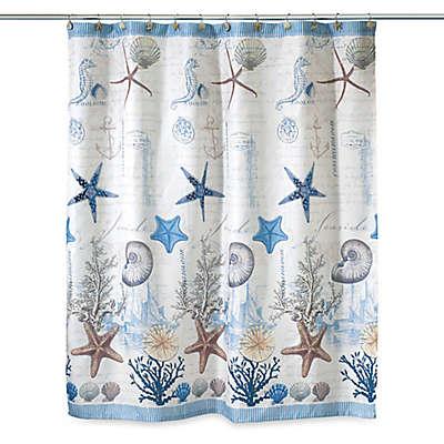 Avanti Antigua 72-Inch x 72-Inch Fabric Shower Curtain