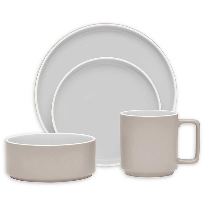 Alternate image 1 for Noritake® ColorTrio Stax Dinnerware Collection in Sand