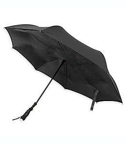 Paraguas de poliéster BetterBrella™ con lámpara color negro