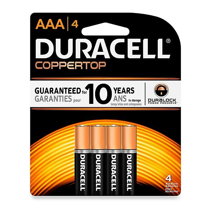 DuracellR AAA Battery 4 Pack