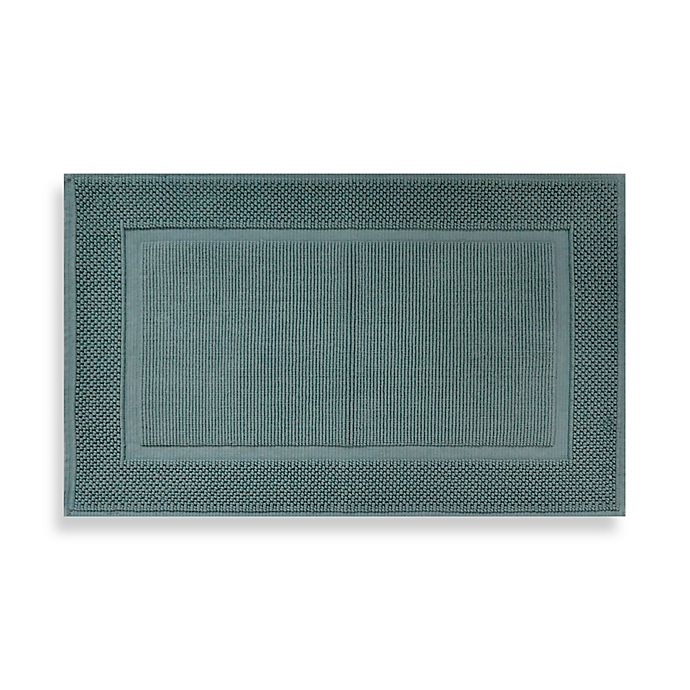 Alternate image 1 for Wamsutta® Jacquard 20-Inch x 33-Inch Ring-Spun Cotton Bath Rug in Sea