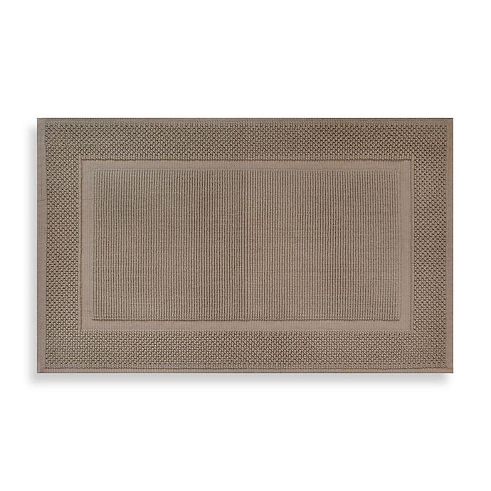 Alternate image 1 for Wamsutta® Jacquard 20-Inch x 33-Inch Ring-Spun Cotton Bath Rug in Sand