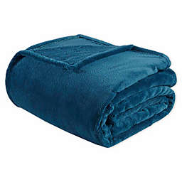Intelligent Design Microlight Plush Blanket in Teal