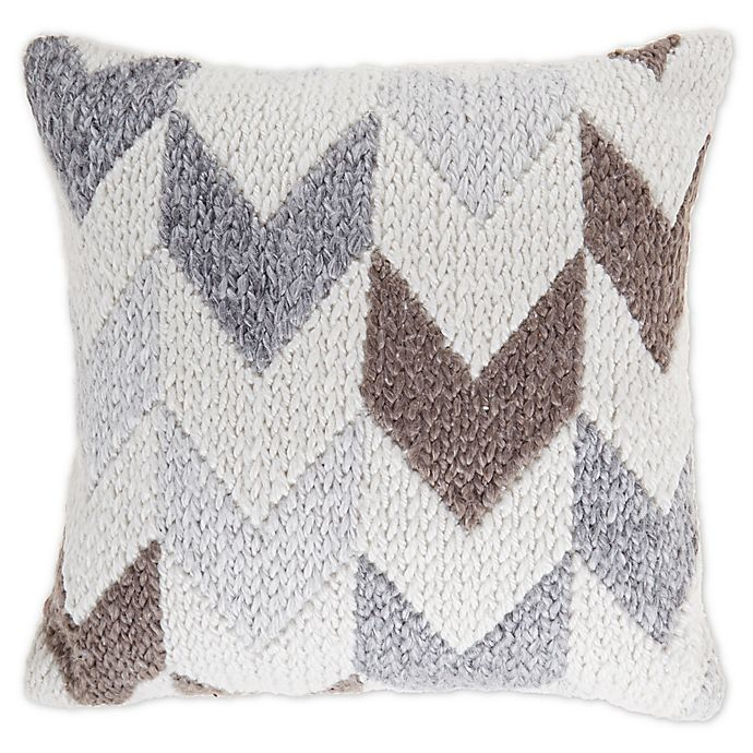Alternate image 1 for Bee & Willow™ Home Sharon Square Throw Pillow in Grey/Ivory