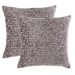 Uneven Stripe Jaquard Square Throw Pillow in Grey (Set of 2)
