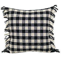 Chunky Check Throw Pillow in Black/Natural