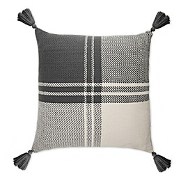 Bee & Willow™ Home Yarn-Dyed Square Throw Pillow in Grey/White