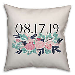 Designs Direct Graphic Floral 18-Inch Square Throw Pillow