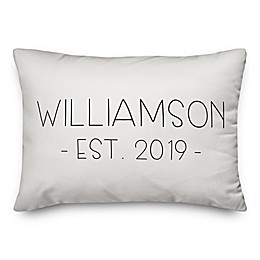 Designs Direct Est. Typography Oblong Throw Pillow in Black