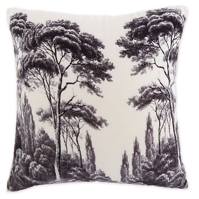 Alternate image 1 for Ulysses Tree Printed Square Throw Pillow in Off White/Charcoal