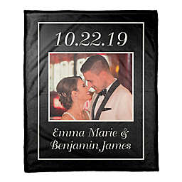 Designs Direct Typography Frame Personalized Throw Blanket