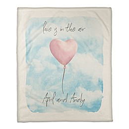 Designs Direct Love Is In the Air Personalized Throw Blanket