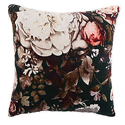 Lorraine Floral Blossom Square Throw Pillow in Green