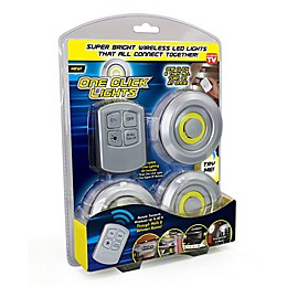 UOTOO One Click Lites 3-Pack COB-LED Utility Light in Silver